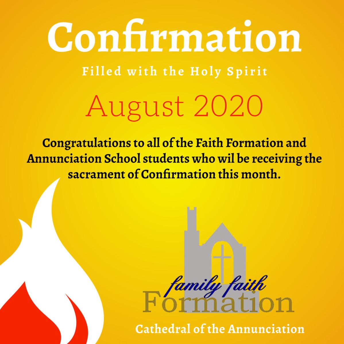 Confirmations 2020