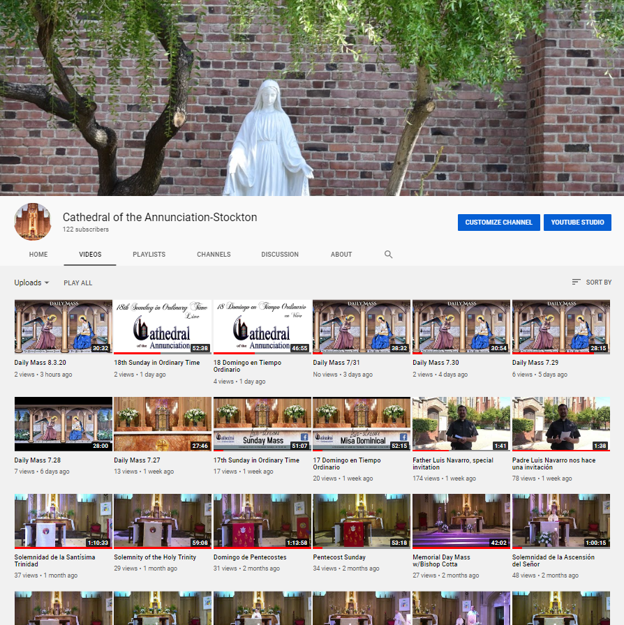 Annunciation's Youtube Page