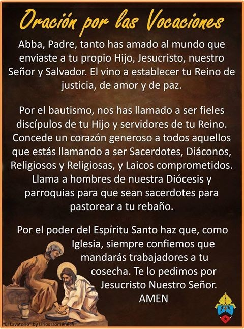 Prayer For Vocations Espanol