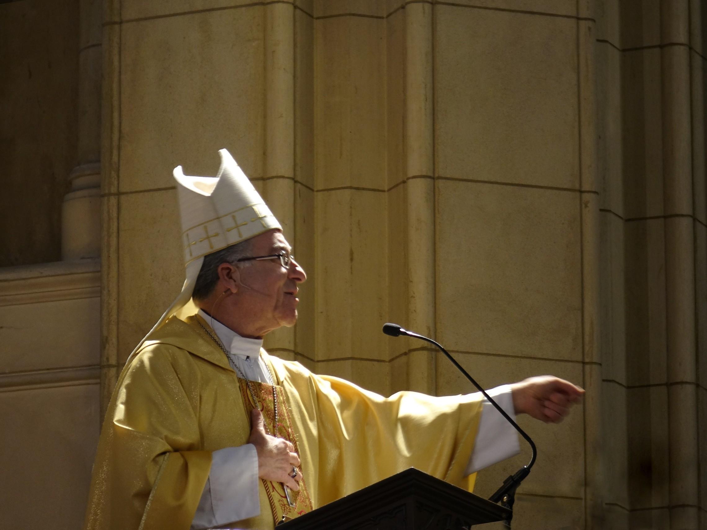 Bishop Cotta. Preaching