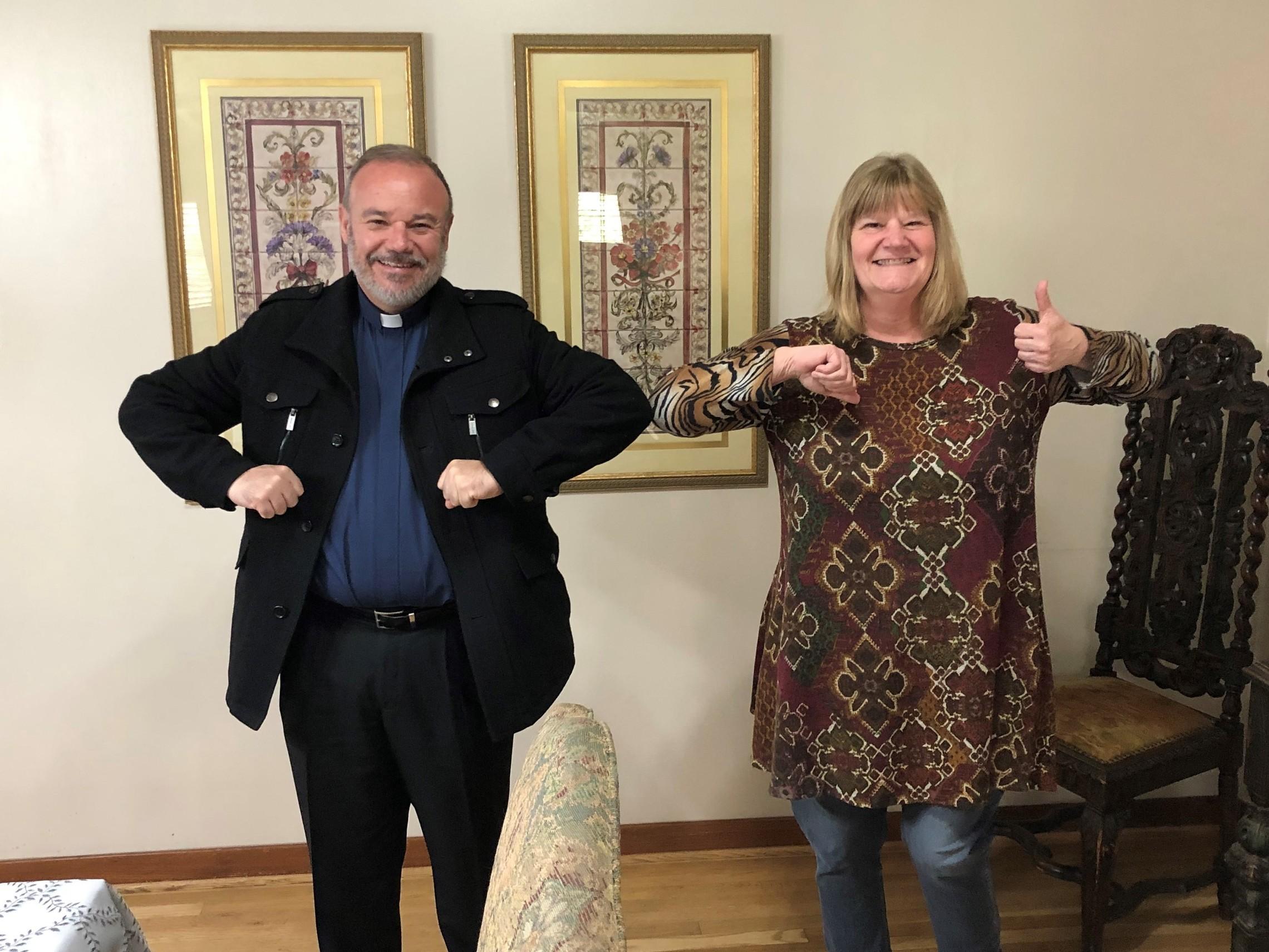 Kathy And Fr Ramon